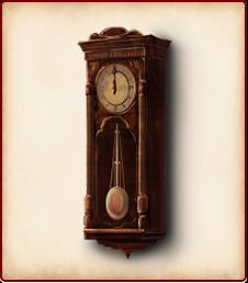 アンティークな掛け時計