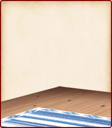 ラグマットの床