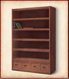 備え付けの本棚