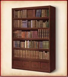 洋風の本棚