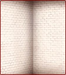 白煉瓦の壁