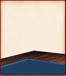 青い絨毯の床